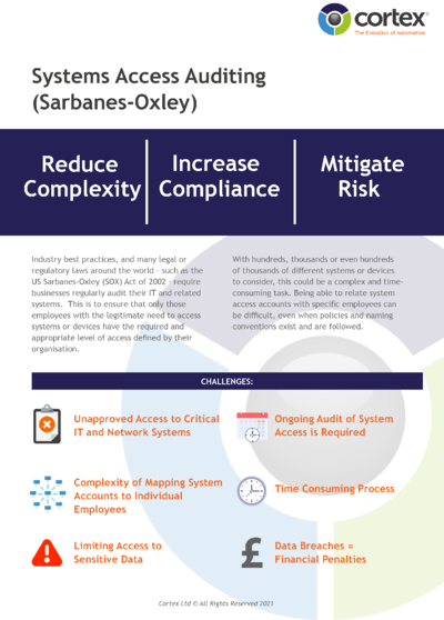 System Access Auditing - Sarbanes Oxley-1